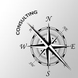 Consulting written aside compass. Illustration of Consulting written aside compass Stock Photos