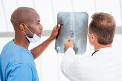 Consulting about x-ray. Stock Photography