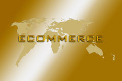 Consulto del mondo di commercio elettronico Fotografie Stock