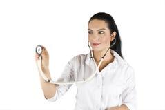 Consulto femminile del medico Immagini Stock