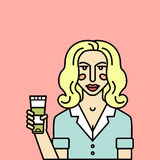 Consultor de belleza libre illustration
