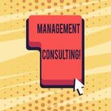 Consultoria de gestão do texto da escrita Conceito que significa conselhos em analysisaging e em melhorar seus negócios ilustração do vetor