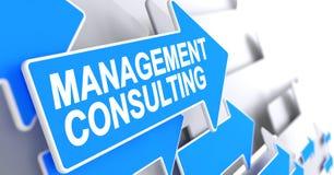 Consultoria de gestão - inscrição no cursor azul 3d Imagens de Stock