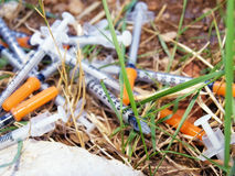 Consumed syringes Royalty Free Stock Photos
