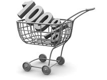 Consumer basket. 100 percent Royalty Free Stock Photo