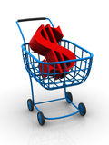 Consumer basket with dollar Royalty Free Stock Photography
