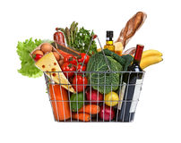 Consumer basket Royalty Free Stock Images