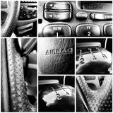 Consumer Car - Black and White Collage Stock Image