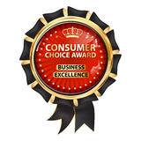 Consumer Choice award. Business Excellence Stock Images