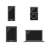Consumer Electronics icons. Consumer Electronics black web icons set Stock Photography