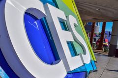 Consumer Electronics Show CES Sign in Las Vegas stock images