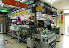 Consumer electronics store Stock Photography