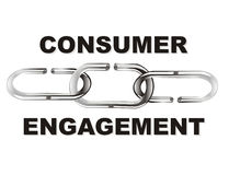Consumer engagement. A chain of consumer engagement for your company Stock Images