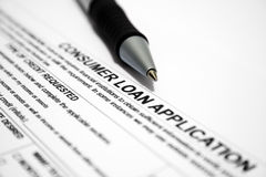 Consumer loan  application Royalty Free Stock Photo