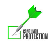 Consumer protection dart check mark illustration Royalty Free Stock Images
