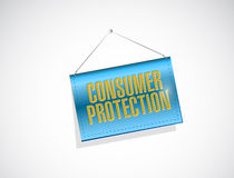 Consumer protection hanging banner illustration Stock Images