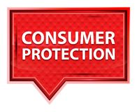 Consumer Protection misty rose pink banner button stock illustration