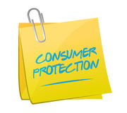 Consumer protection memo illustration Stock Image