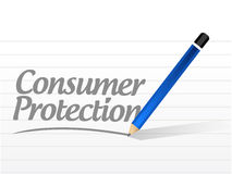 Consumer protection message illustration Stock Photos