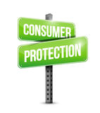 Consumer protection road sign illustration design Royalty Free Stock Photography