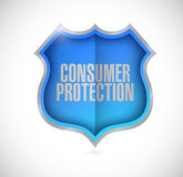 Consumer protection shield illustration Stock Photo