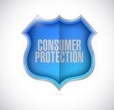 Consumer protection shield illustration Stock Photo