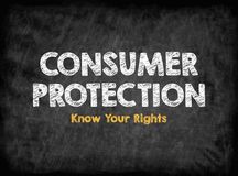 Consumer Rights Protection concept. Black board with texture, background Stock Images
