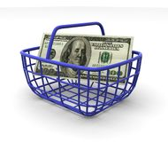 Consumer's basket royalty free stock image