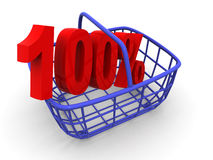 Consumer's basket Royalty Free Stock Photos
