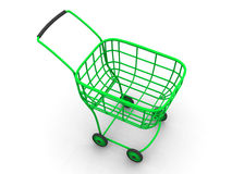 Consumer's basket. 3d Stock Photo