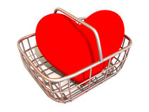 Consumer's basket with Heart Stock Images