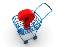 Consumer's basket. question Royalty Free Stock Photo