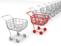 Consumer's baskets Royalty Free Stock Image