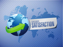 Consumer Satisfaction globe sign concept Royalty Free Stock Image
