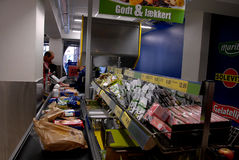 CONSUMER SHOPPING IN GERMAN LIDL FOOD CHAIN Royalty Free Stock Photo