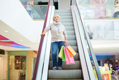 Consumer in shopping mall Royalty Free Stock Photography