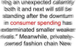 Consumer spending. Abstract photo of the words consumer spending Stock Photos