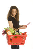 Consumer in supermarket Royalty Free Stock Photography