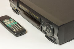 Consumer video recorder to play back videos and remote control Royalty Free Stock Photo