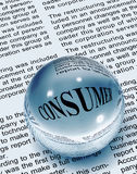 Consumer word in newspaper. Consumer word in news paper Stock Illustration