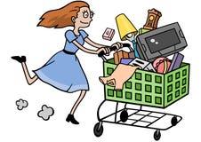 consumerism stock illustrationer