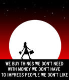 Consumerism. Buying and consuming things we dont need Royalty Free Stock Images