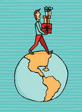 Consumerism härskar världen royaltyfri illustrationer