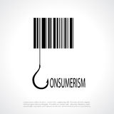 Consumerism poster. Consumerism symbol, vector square poster Royalty Free Stock Image