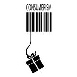 Consumerism vector sign. On white Stock Images