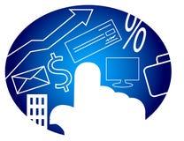 Consumerismo del ordenador Imagen de archivo libre de regalías