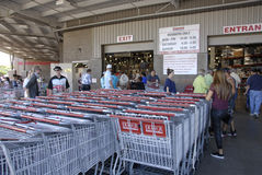 Consumers at costco Royalty Free Stock Images