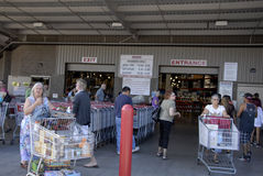 Consumers at costco Royalty Free Stock Photo