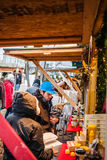 Consumers Looking for something to buy. Longueuil, CANADA - December 22nd 2015. Christmas Market Taking Place in a Park. More than Fifty Vendors Present Royalty Free Stock Photo