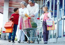 Consumers walking Royalty Free Stock Photos